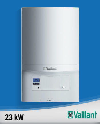 Imagine centrala termica condensare Vaillant-ecoTEC-pro-23-kw fundal albastru