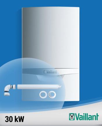 Imagine-Vaillant-ecoTEC-plus-30-kw-VU-doar-incalzire-cu-kit-evacuare-fundal albastru
